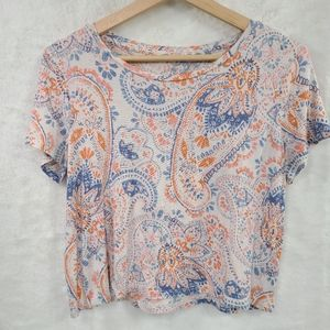Prince and Fox Super Soft Crop T shirt Paisley